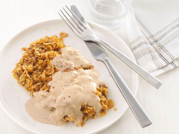 Chicken-Fried Steak With Cream Gravy from FoodNetwork.com