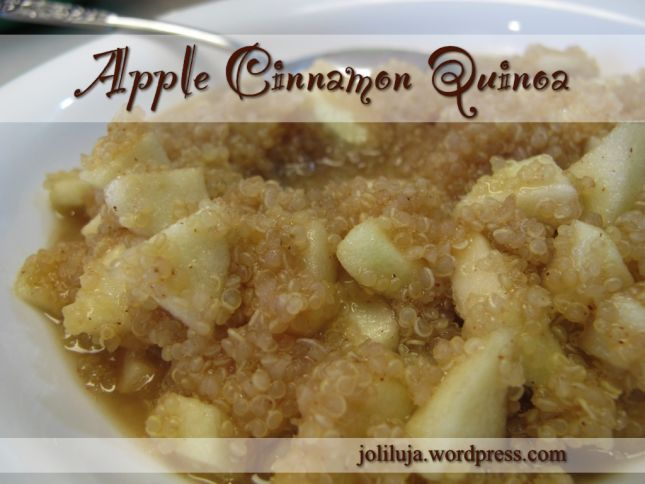 Apples And Cinnamon Breakfast Quinoa Recipe — Dishmaps