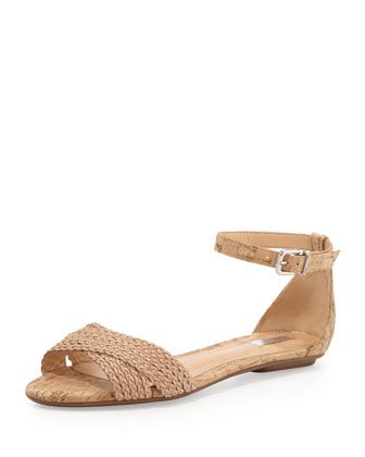 Fleuranne Cork and Leather Sandal at CUSP.