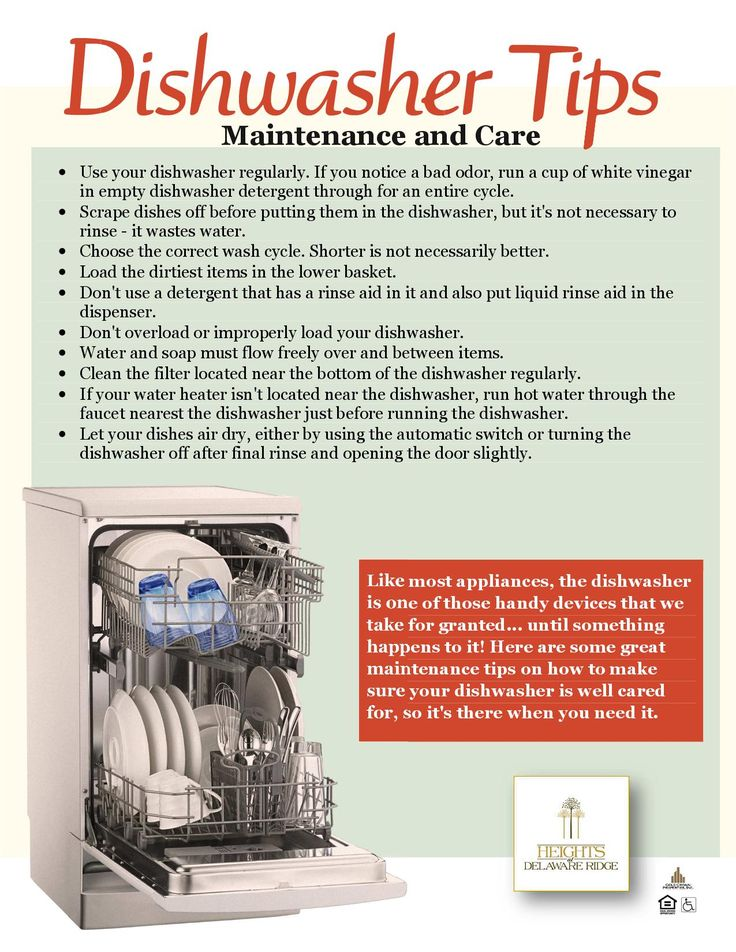 Maintenance Tips For Your Dishwasher Share With Residents Pintere