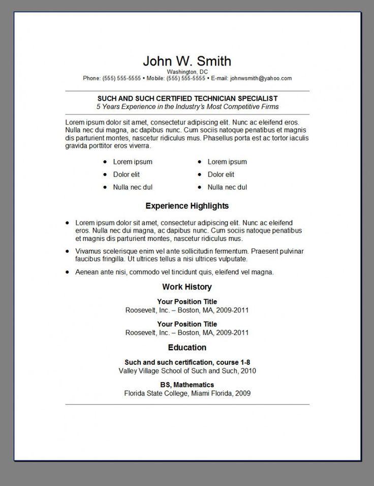 best resume template reddit
