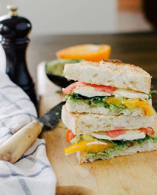 Lunch Recipe: Mozzacado Sandwich -- avocado, tomato, mozzarella and ...