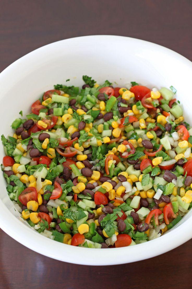 Black Bean and Corn Salsa Salad. Mix corn, black beans and salsa ...