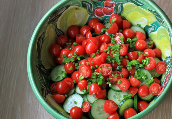tomato and cucumber salad | food pretty | Pinterest