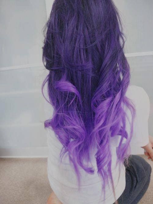 Dark to light purple waves | Hairstyles | Pinterest