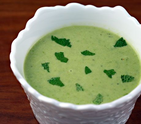 Chilled mint fresh pea soup | Yummy | Pinterest