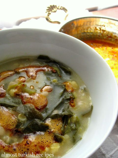 Almost Turkish Recipes: Collard Greens Soup (Karalahana Çorbası)