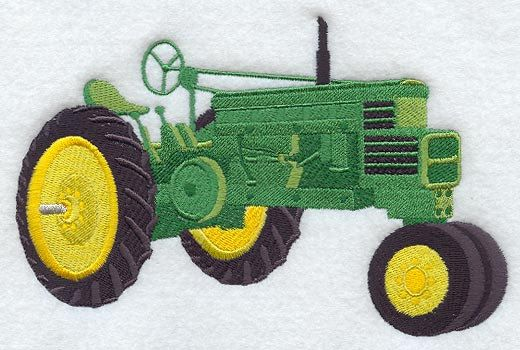 John Deere Emblem Embroidery Designs : John deere tractor embroidery design joy studio