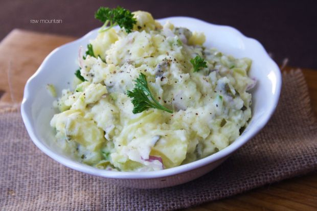 Smashed Potato Salad | Why is it smashed you say? Because this potato ...