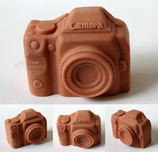 make homemade soap cameras with silicone mold @soparepublic on etsy  @jillmott