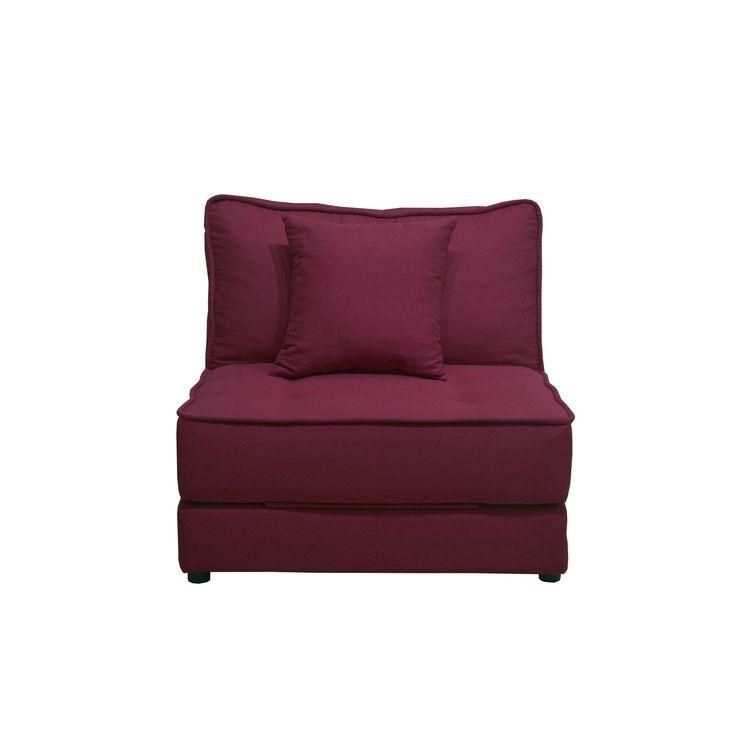 chauffeuse convertible 1 place aubergine aubergine natty. Black Bedroom Furniture Sets. Home Design Ideas