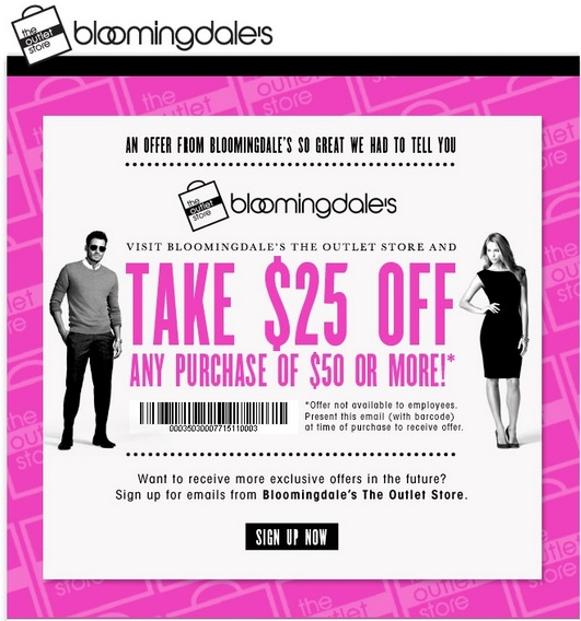 Bloomingdale's outlet coupon 2018