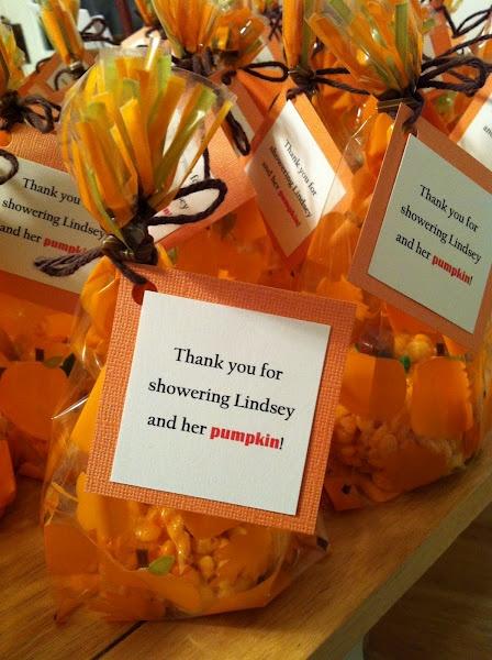 Halloween Baby Gifts Ideas : Pumpkin favors baby shower