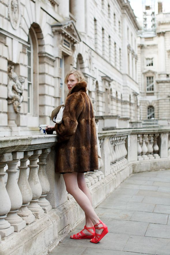 Fur and bare legs