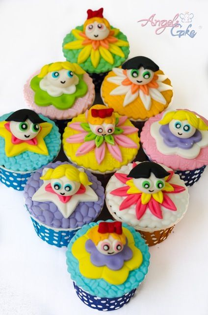 powerpuff girls cupcakes