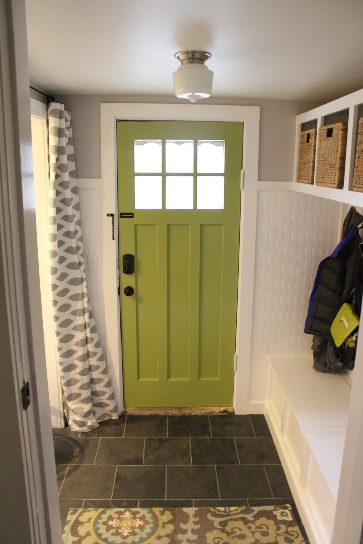 Green door slate mudroom floor dream home pinterest for Mudroom floor