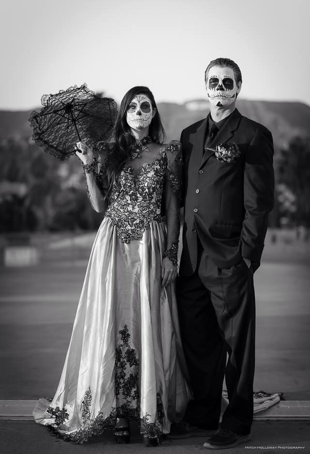 Day of the dead 2013 dia de los muertos hollywood for Sugar skull wedding dress