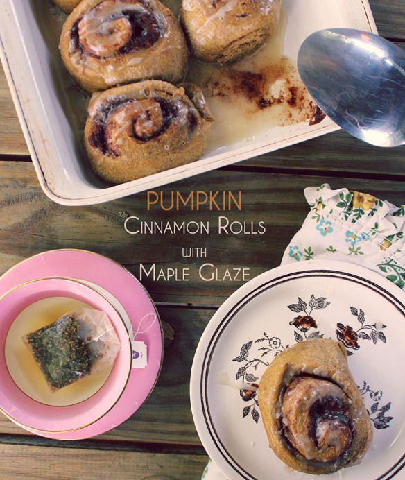 Pumpkin Cinnamon Rolls with Maple Glaze   Food!   Pinterest