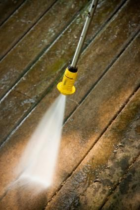 Homemade deck cleaner