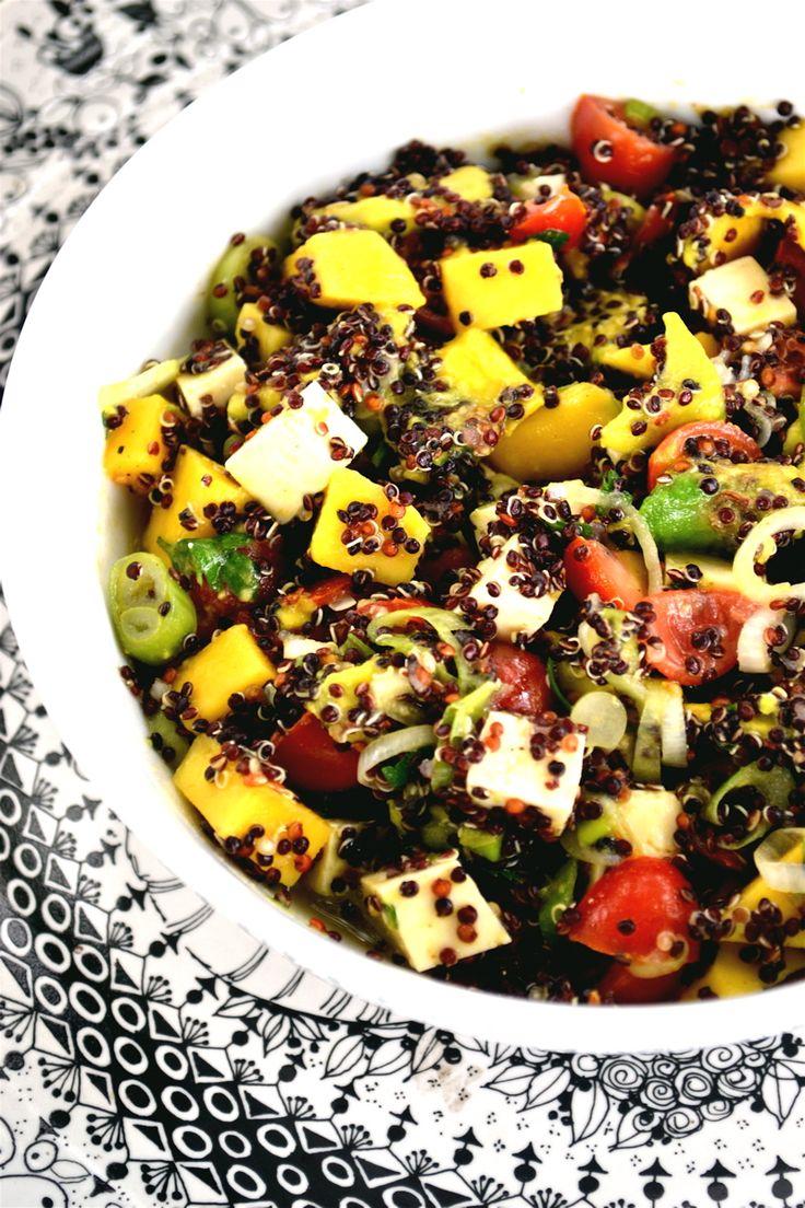 mango chicken and blue cheese quinoa salad quinoa salad recipe quinoa ...