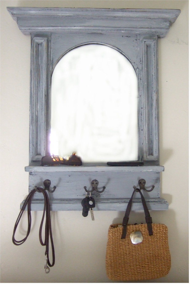 The arch mirror with shelf hooks mudroom entry pinterest for Mirror hooks