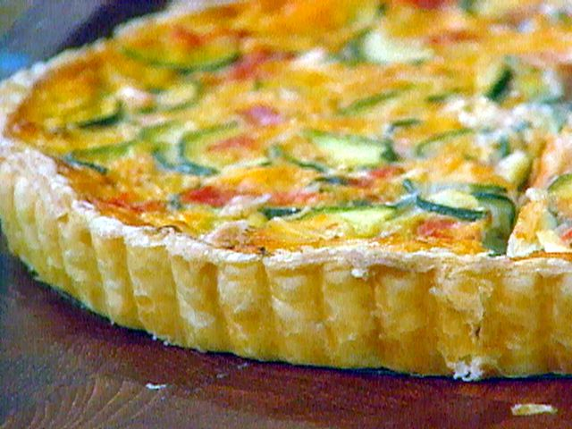 Easy Zucchini, Tomato, and Cheese Tart from FoodNetwork.com. This was ...