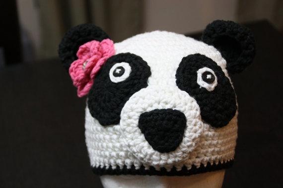 Panda Bear Earflap Hat Crochet Pattern : Panda bear crochet hat pattern Hats Pinterest