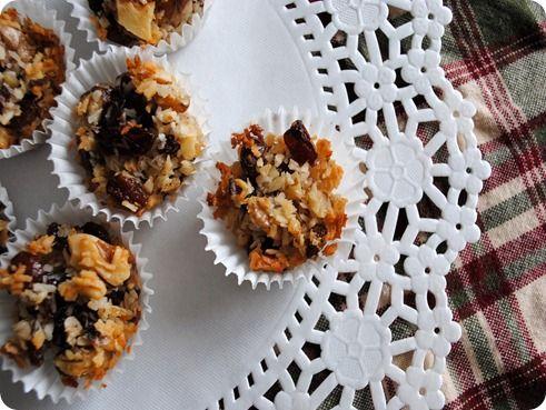 Coconut Orange Honey Nut Cookies - raisins, walnuts, orange zest