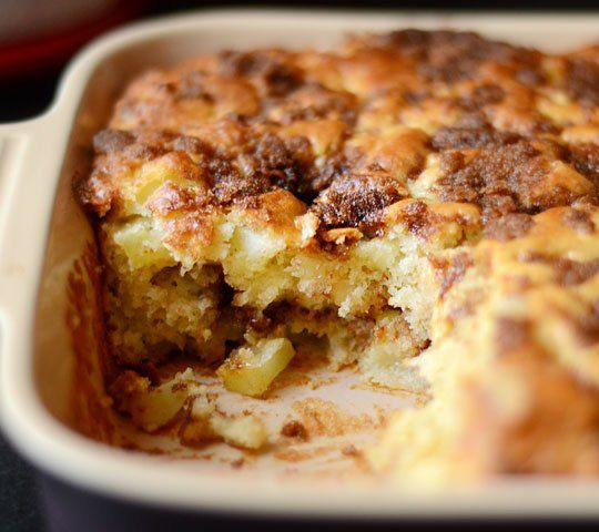 Apple Yogurt Cake with a Cinnamon-Sugar Streak | Recipe