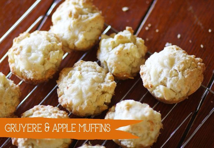 Gruyere and Apple Muffins - Emma's From Scratch