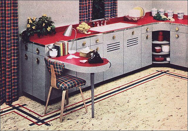 1950s Kitchen Design Nairn Linoleum 1950 39 S Kitchen
