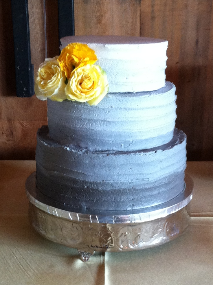 Ombré wedding cake