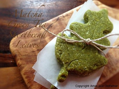 Matcha-Green-Tea-Shortbread-Leaves | desserts/sweets | Pinterest