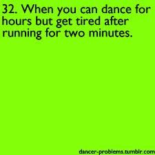 or when your in the five minute run and your on the edge of walking, but you can