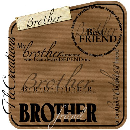 Brother Word Art Set