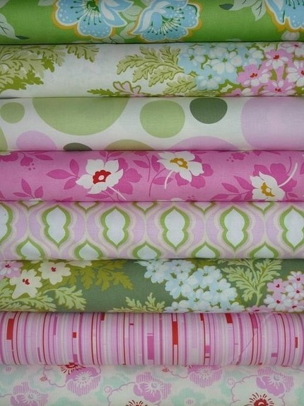 Pink and green fabric color combination textiles pinterest - Combination of green and pink ...