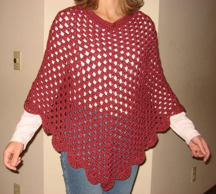 Crochet poncho patterns Crochet Pinterest