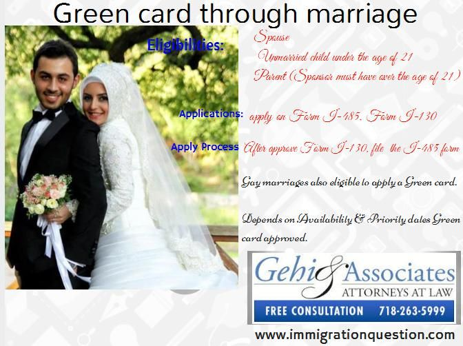 green card based marriage citizen
