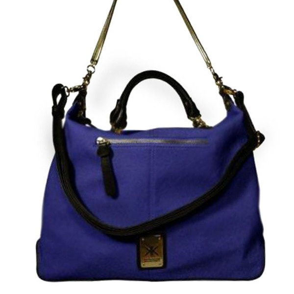 ... Kollection - Grip Handle Chain Bag Blue - Kardashian Kollection