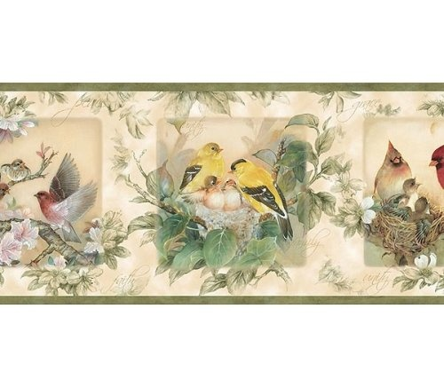 20.89 Love Birds Wallpaper Border  Home decoration  Pinterest