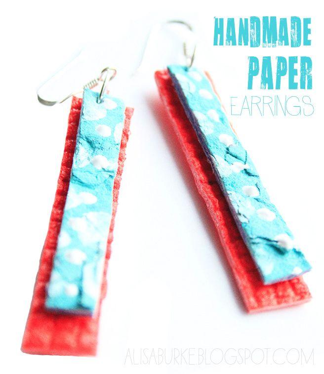 handmade paper earringsHandmade Paper Earrings