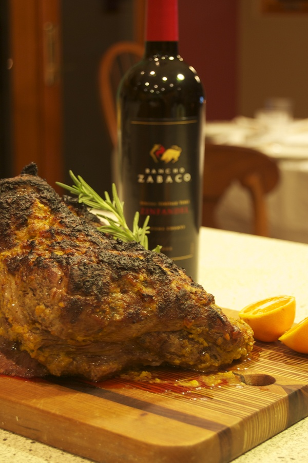 Leg of Lamb in a Clementine Crust by @Lava Lake Lamb