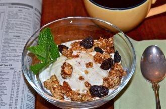 Ice cream for breakfast. Homemade Philadelphia-style vanilla ice cream ...