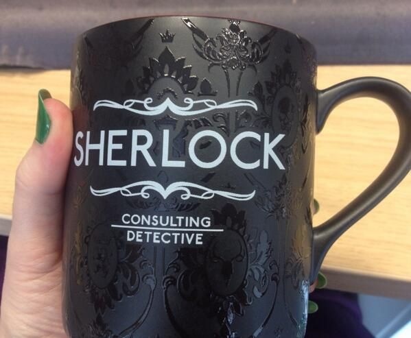 BRILLIANT Sherlock mug. I will happily wait until it comes back in stock in September to have this beauty in my cubbard.