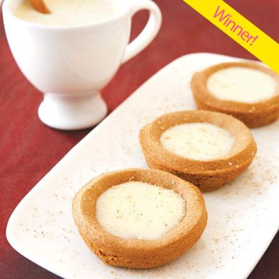 Santa's Eggnog Cups. Combines the flavours of gingerbread and eggnog.