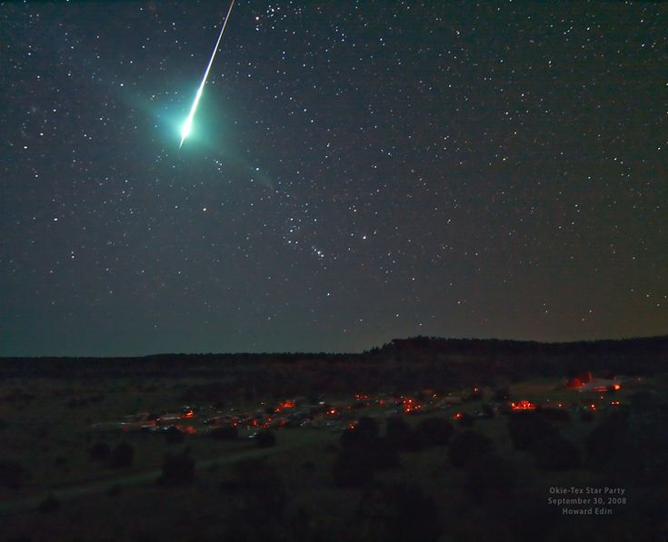 Bright Bolide Credit & Copyright: Howard Edin (Oklahoma City Astronomy Club)