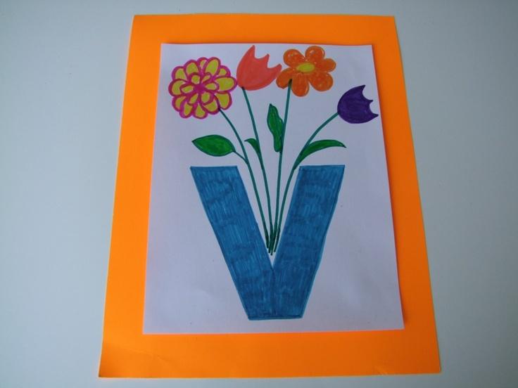 letter v for vase alphabet ideas pinterest