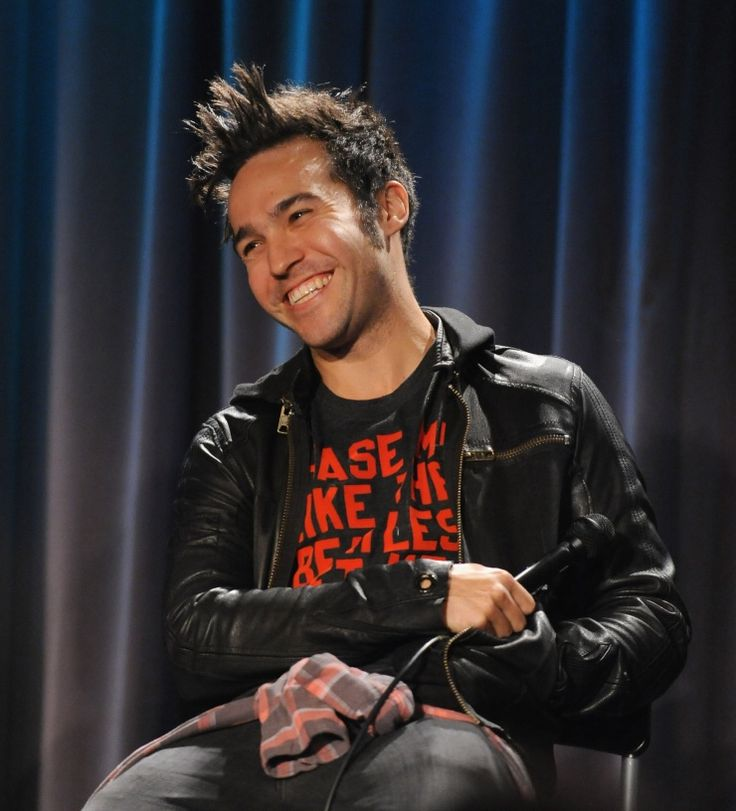 What's so funny? Fall Out Boy's Pete Wentz falls into a fit of laughter at the GRAMMY Museum's An Evening With event on Sept. 24 in Los Angeles�