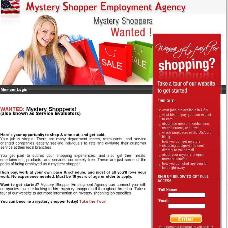 mystery shopper jobs. Black Bedroom Furniture Sets. Home Design Ideas