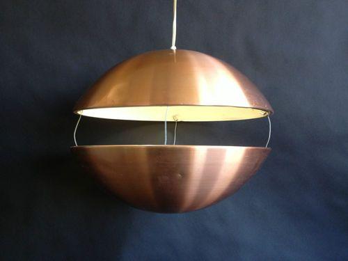 Mid Century Danish Modern Sphere Ball Hanging Swag Lamp